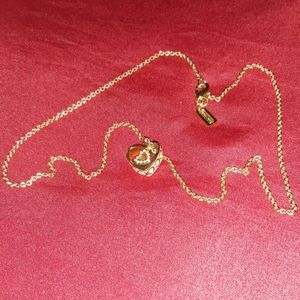 COACH NECKLACE WITH HEART CHARM